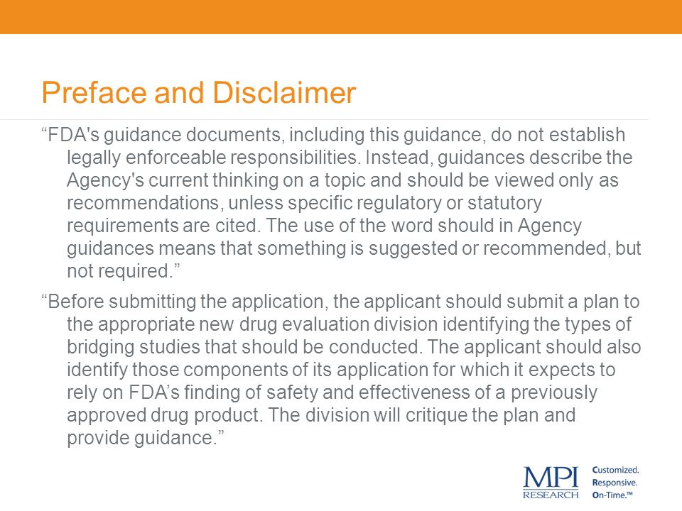 Preface and Disclaimer