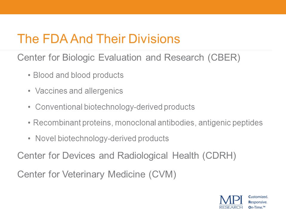The FDA And Their Divisions