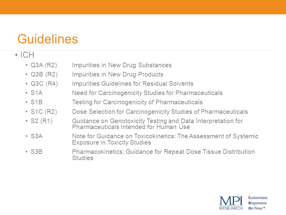 Guidelines ICH Q3A (R2) Impurities in New Drug Substances