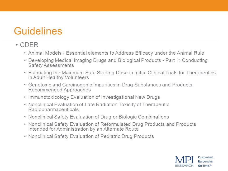 Guidelines CDER. Animal Models - Essential elements to Address Efficacy under the Animal Rule.