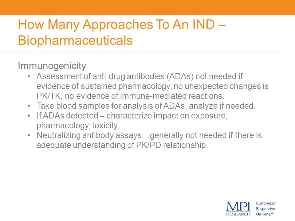 How Many Approaches To An IND – Biopharmaceuticals