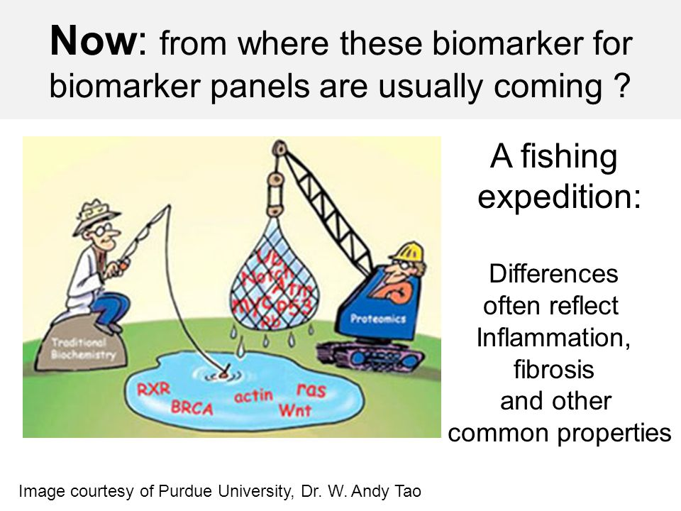 Now: from where these biomarker for biomarker panels are usually coming