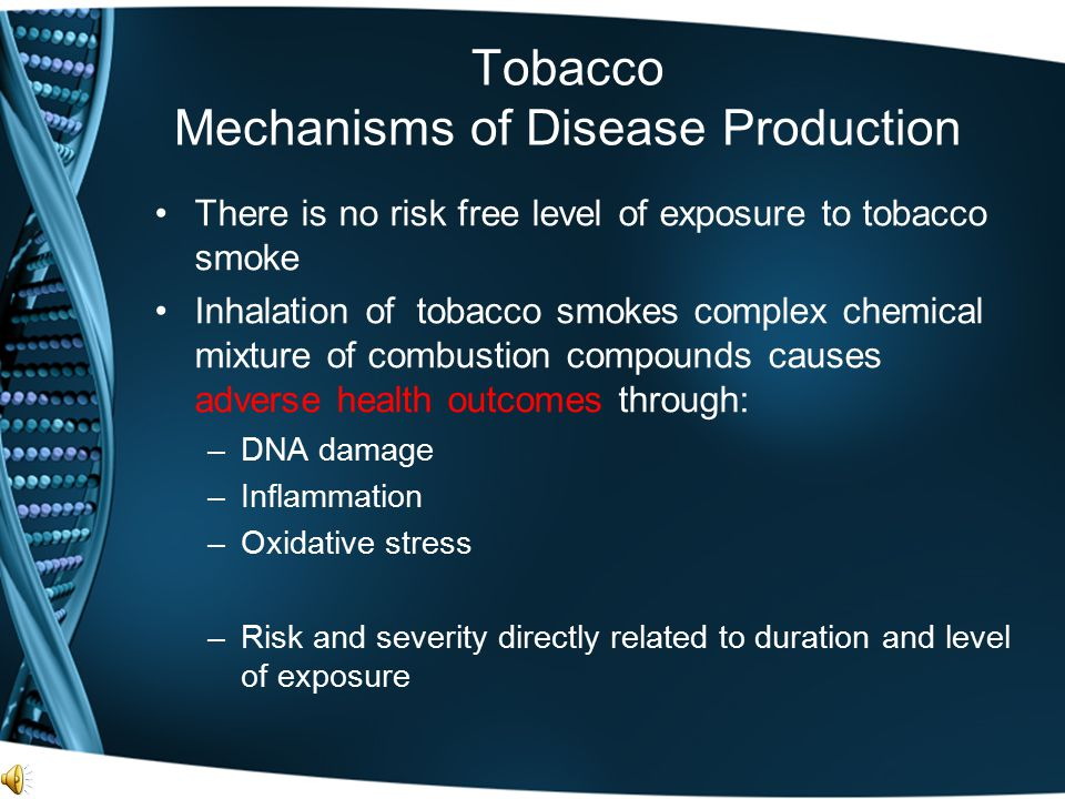 Tobacco Mechanisms of Disease Production