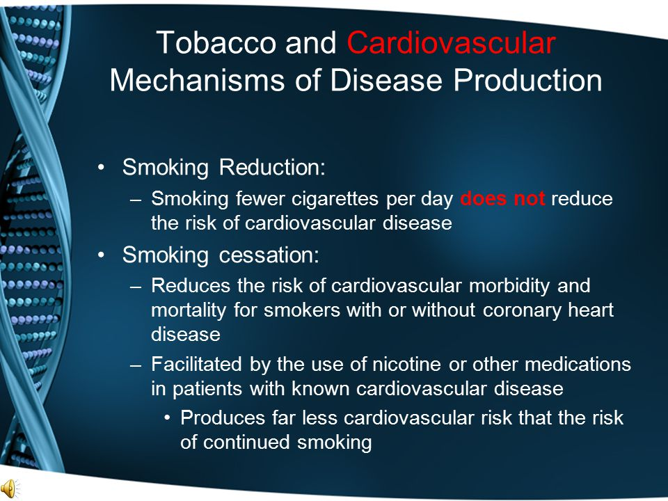Tobacco and Cardiovascular Mechanisms of Disease Production