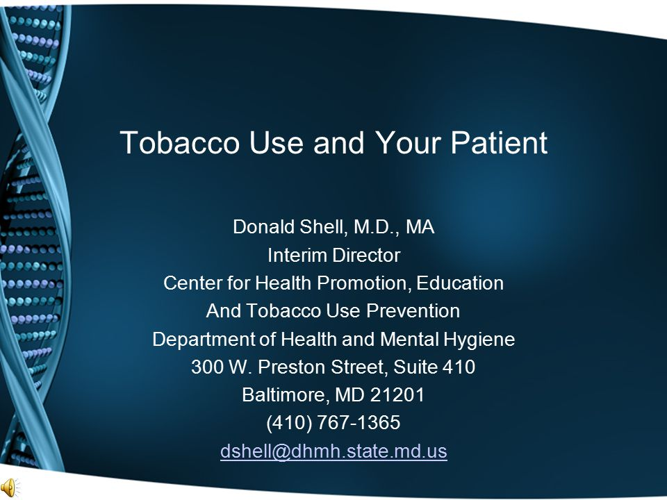 Tobacco Use and Your Patient