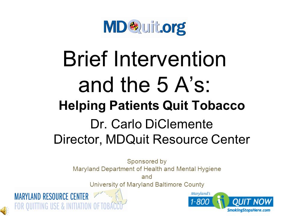 Brief Intervention and the 5 A's: