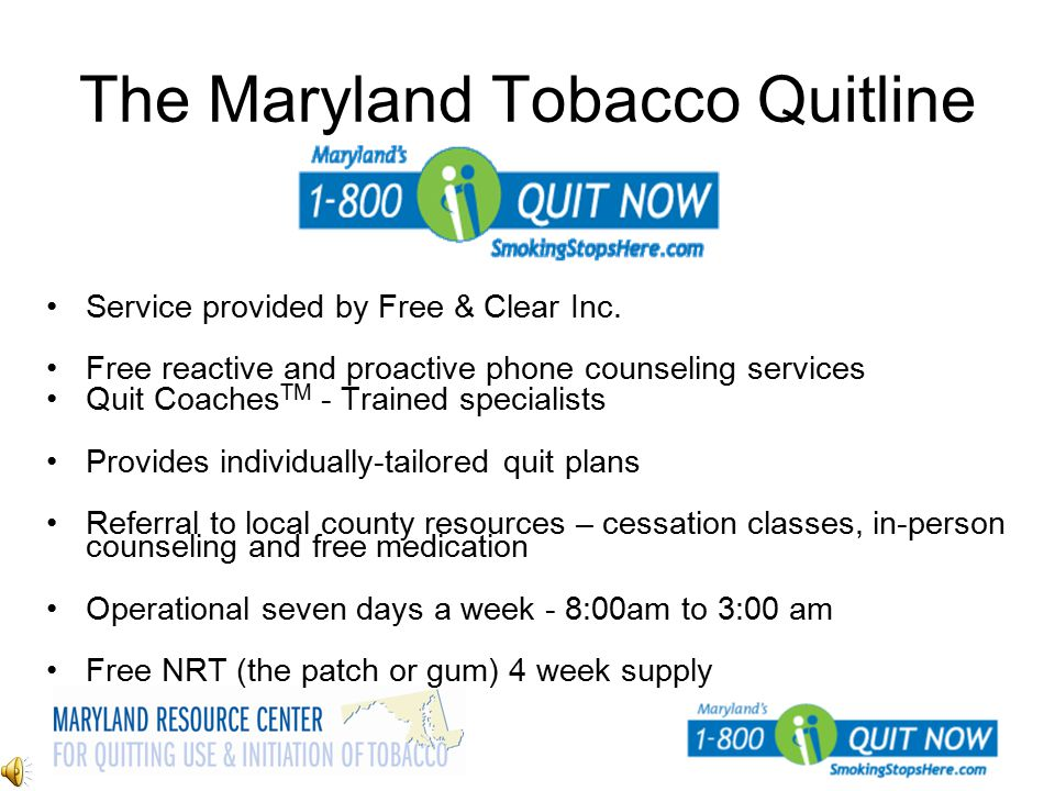 The Maryland Tobacco Quitline