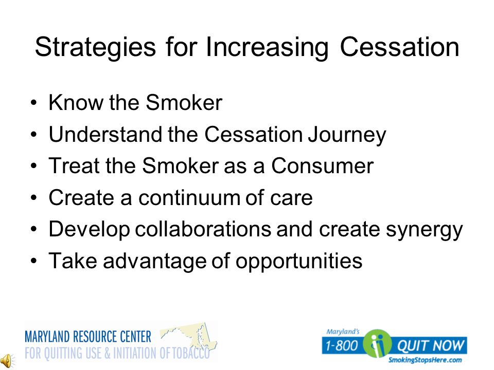 Strategies for Increasing Cessation