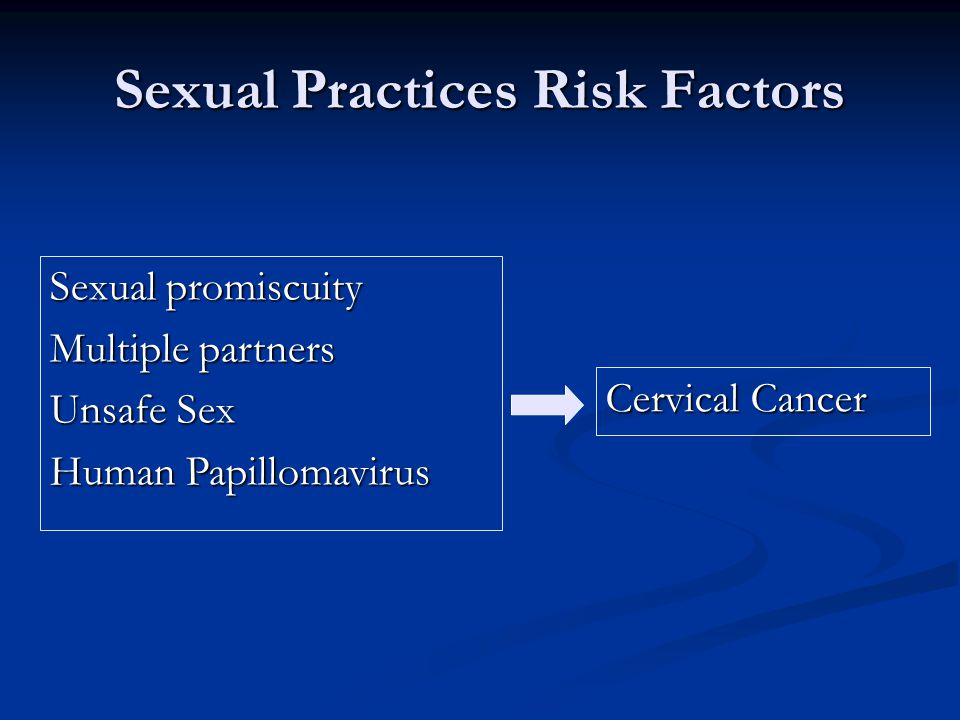 Sexual Practices Risk Factors