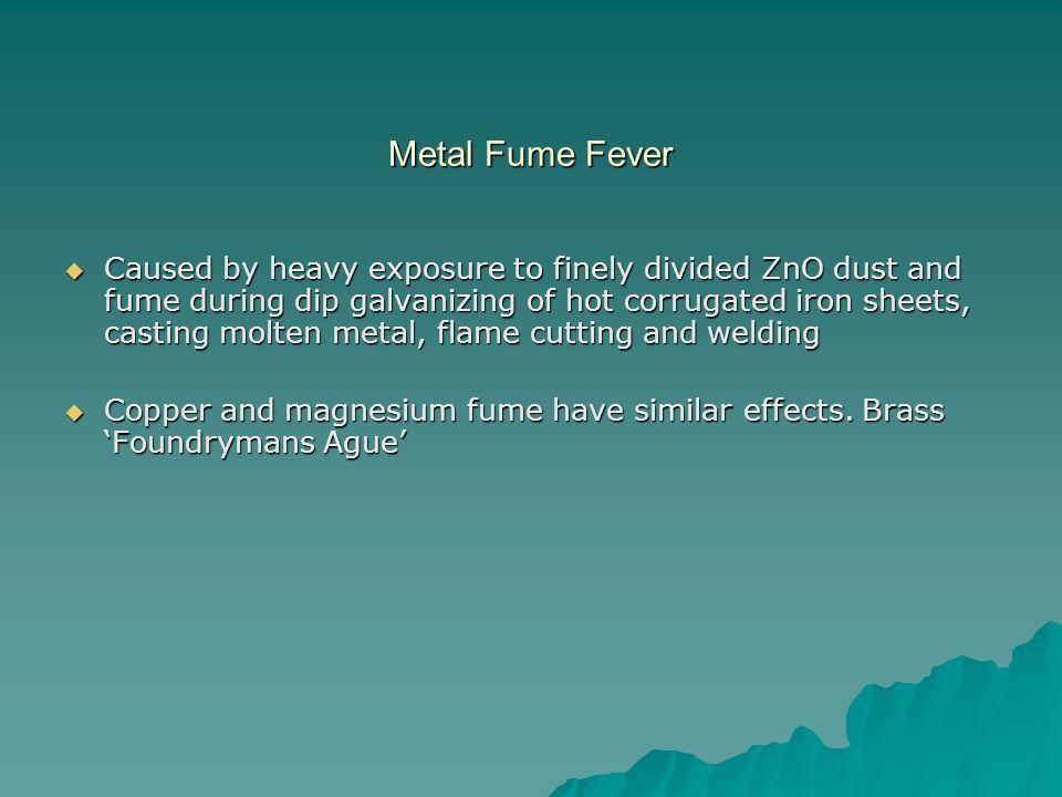 Metal Fume Fever