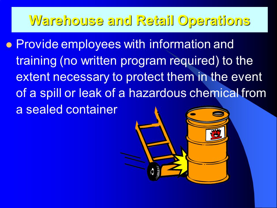 Warehouse and Retail Operations