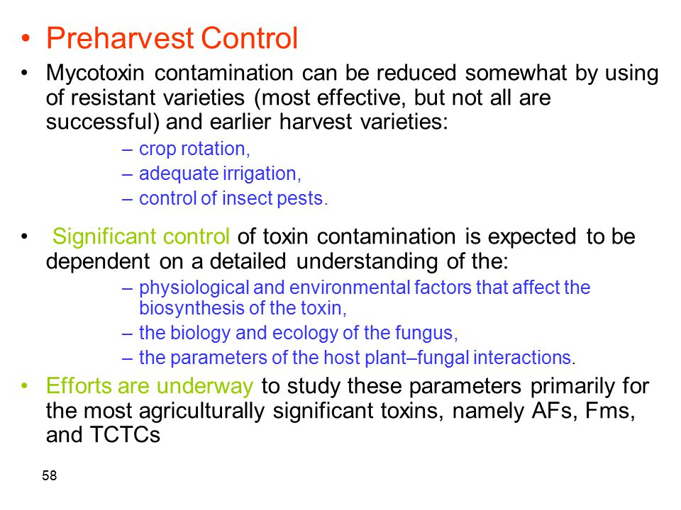 Preharvest Control