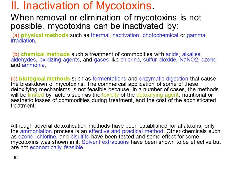 II. Inactivation of Mycotoxins.