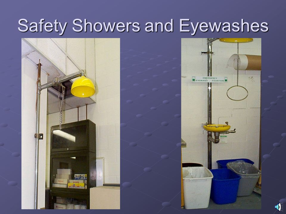 Safety Showers and Eyewashes