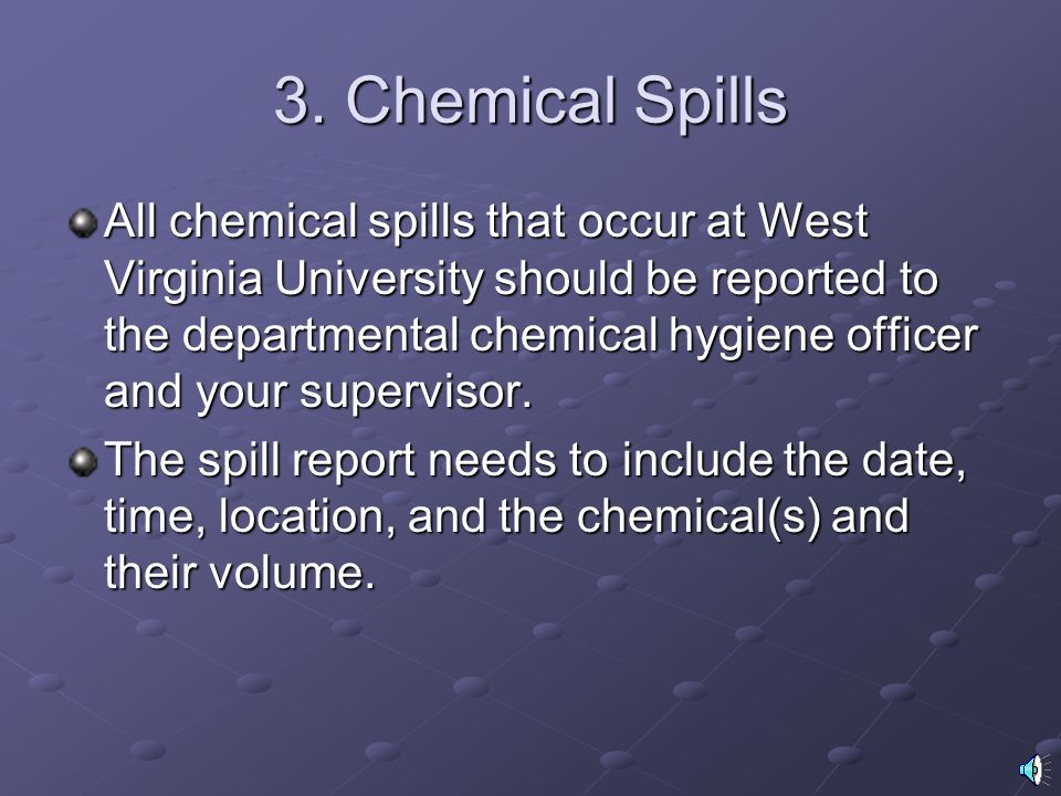 3. Chemical Spills