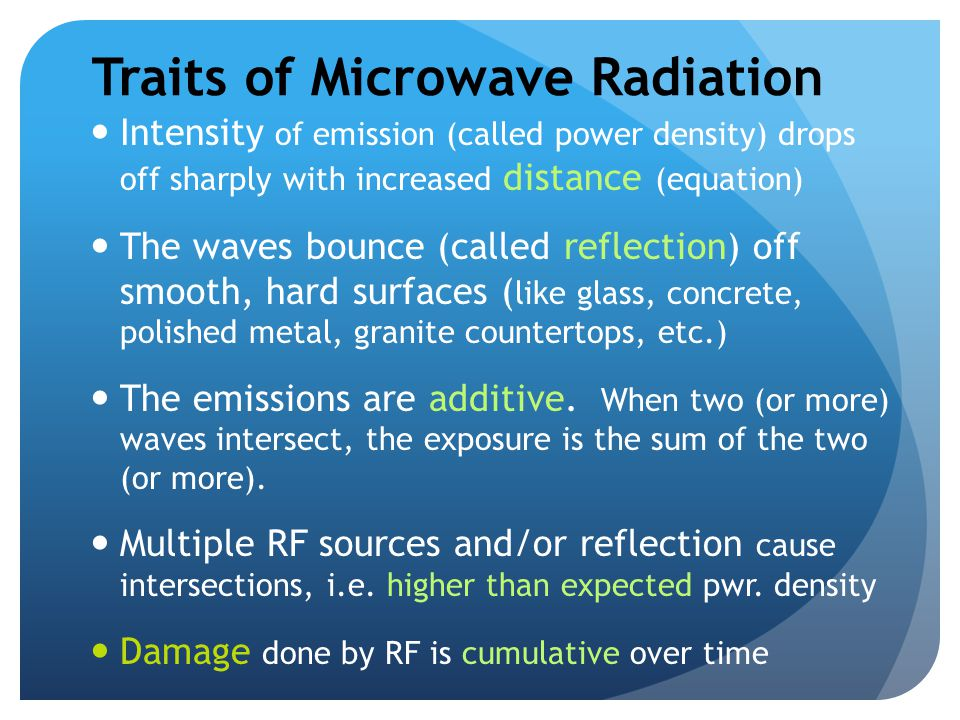 Traits of Microwave Radiation