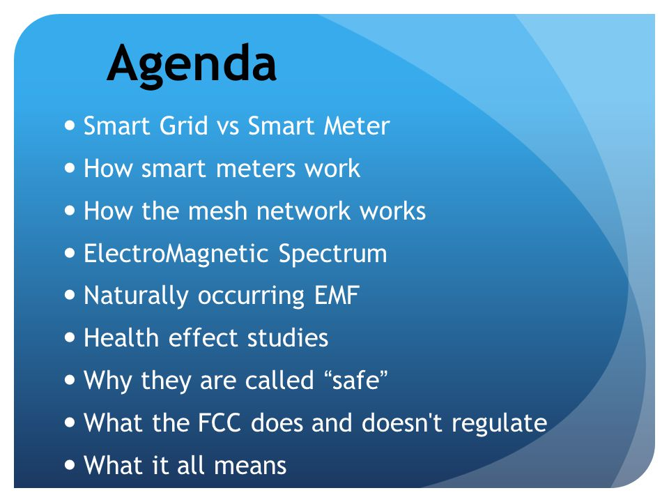 Agenda Smart Grid vs Smart Meter How smart meters work