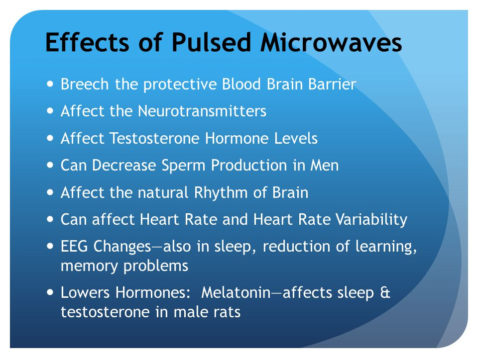 Effects of Pulsed Microwaves