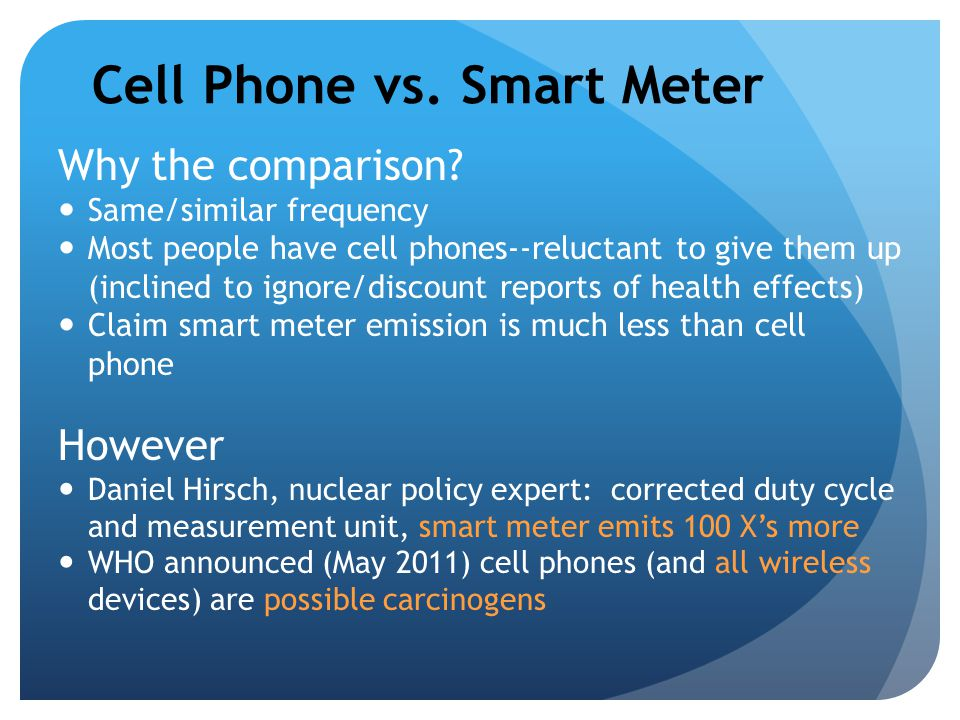 Cell Phone vs. Smart Meter