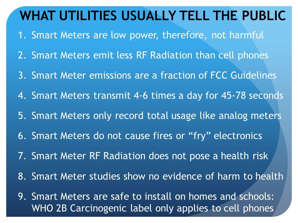 WHAT UTILITIES USUALLY TELL THE PUBLIC