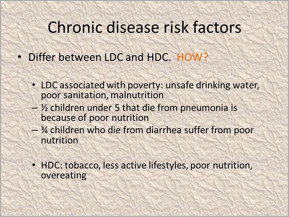 Chronic disease risk factors