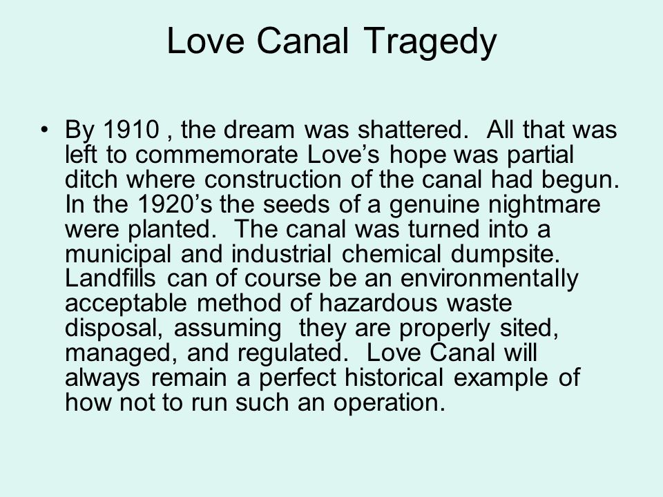 Love Canal Tragedy