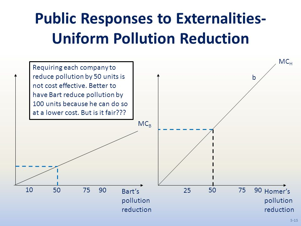 Public Responses to Externalities- Uniform Pollution Reduction