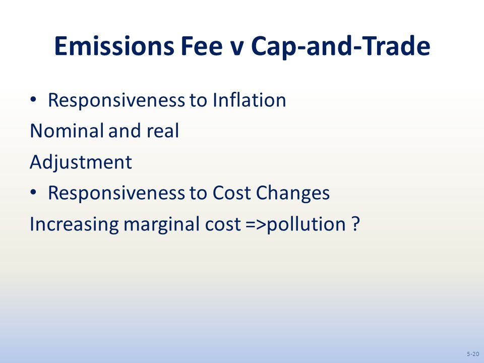 Emissions Fee v Cap-and-Trade