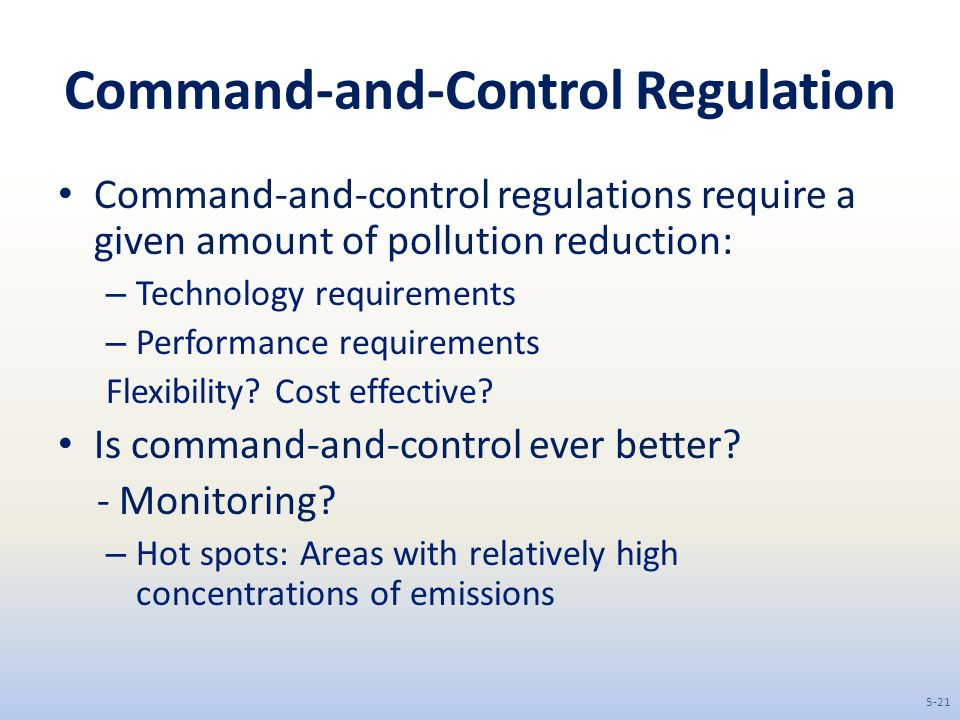 Command-and-Control Regulation