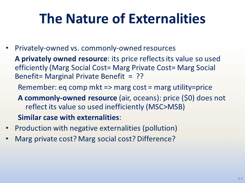 The Nature of Externalities