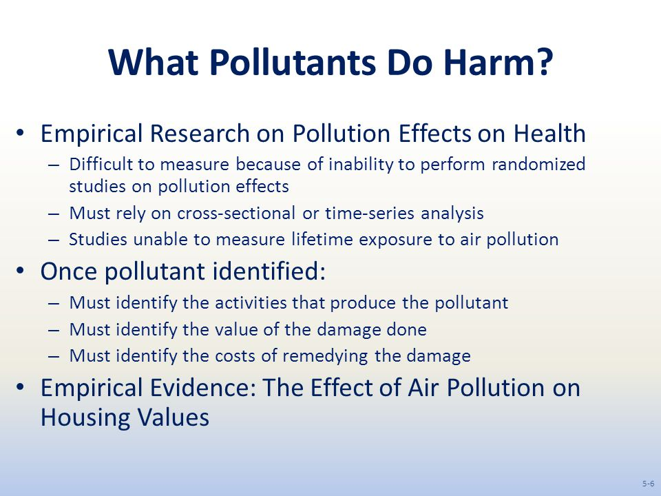 What Pollutants Do Harm