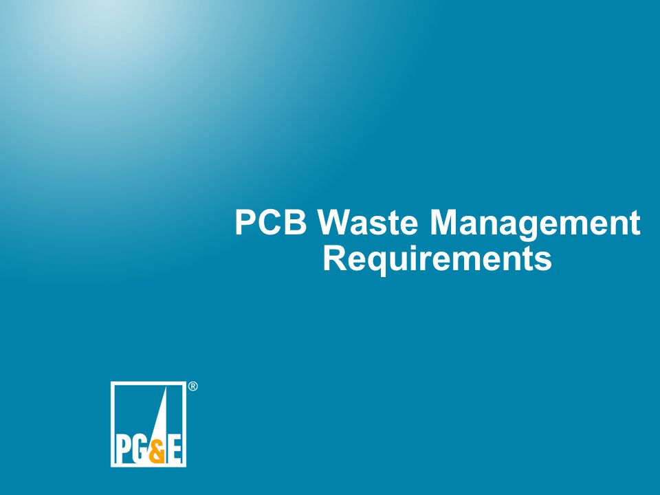 PCB Waste Management Requirements