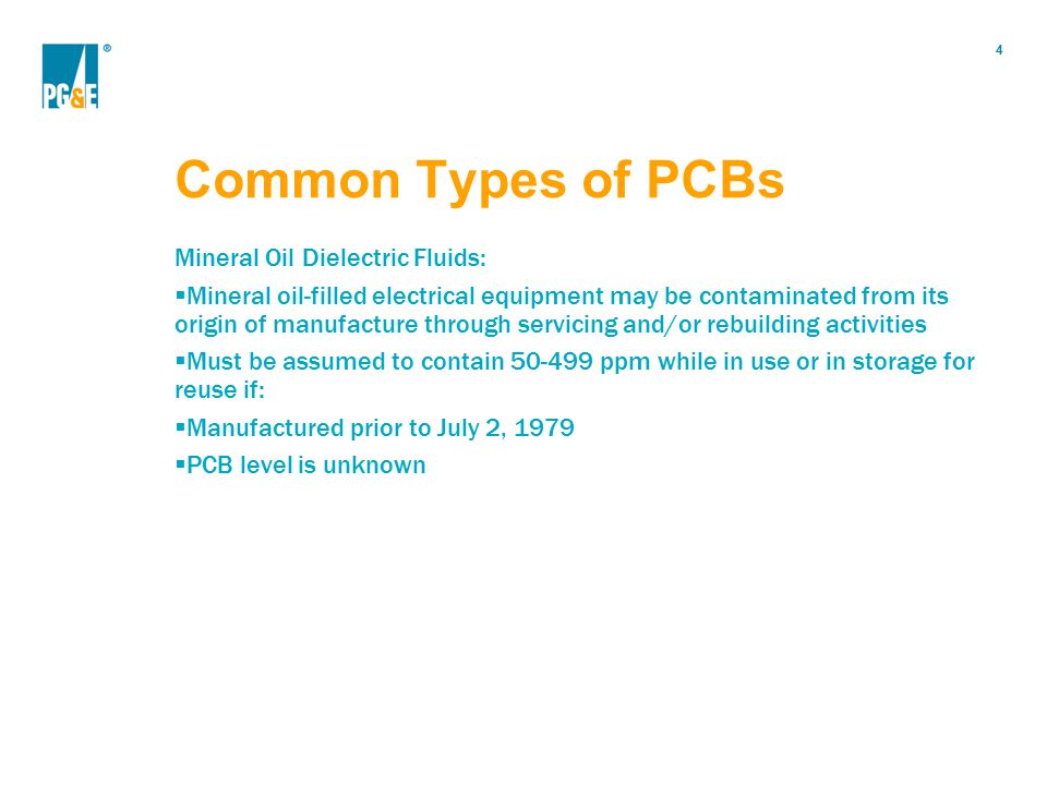Common Types of PCBs Mineral Oil Dielectric Fluids: