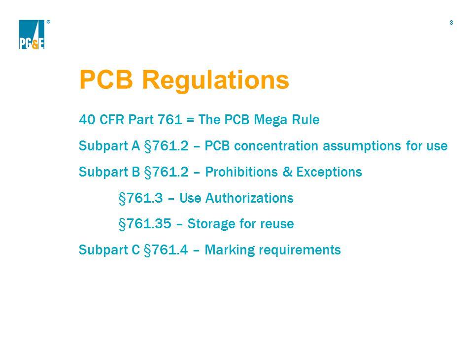 PCB Regulations