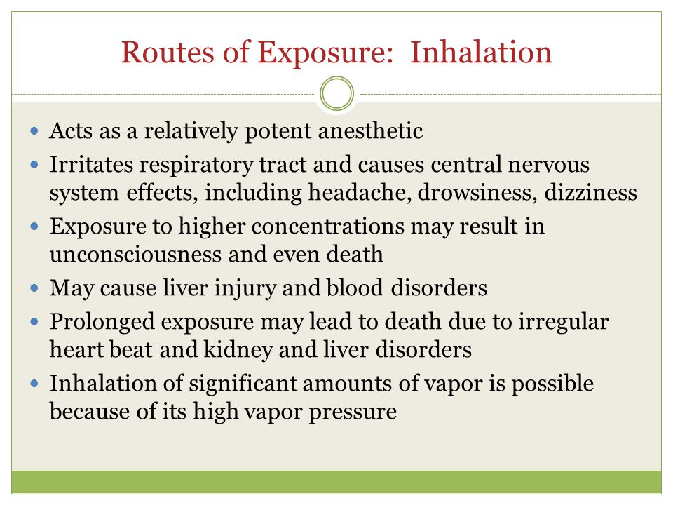 Routes of Exposure: Inhalation
