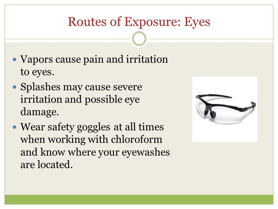 Routes of Exposure: Eyes