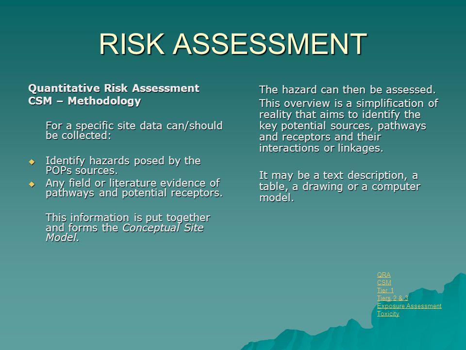 RISK ASSESSMENT Quantitative Risk Assessment CSM – Methodology