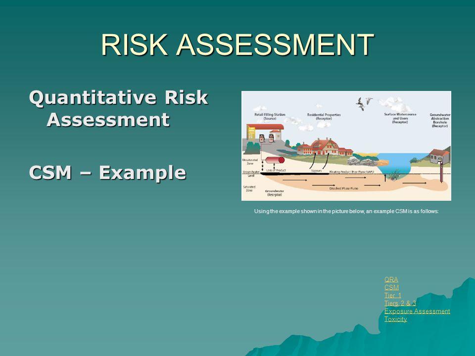 RISK ASSESSMENT Quantitative Risk Assessment CSM – Example QRA CSM