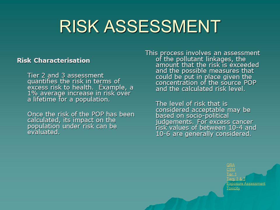 RISK ASSESSMENT Risk Characterisation.