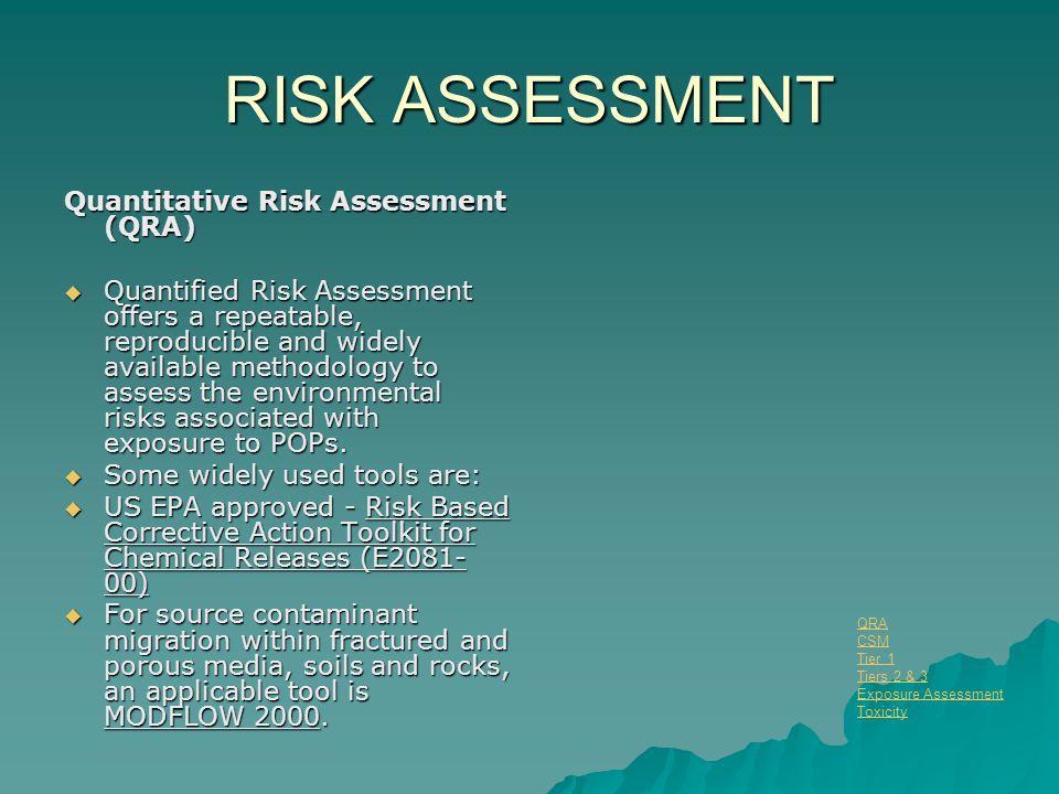 RISK ASSESSMENT Quantitative Risk Assessment (QRA)