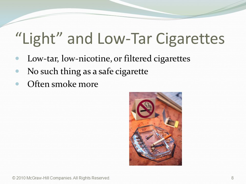 Light and Low-Tar Cigarettes