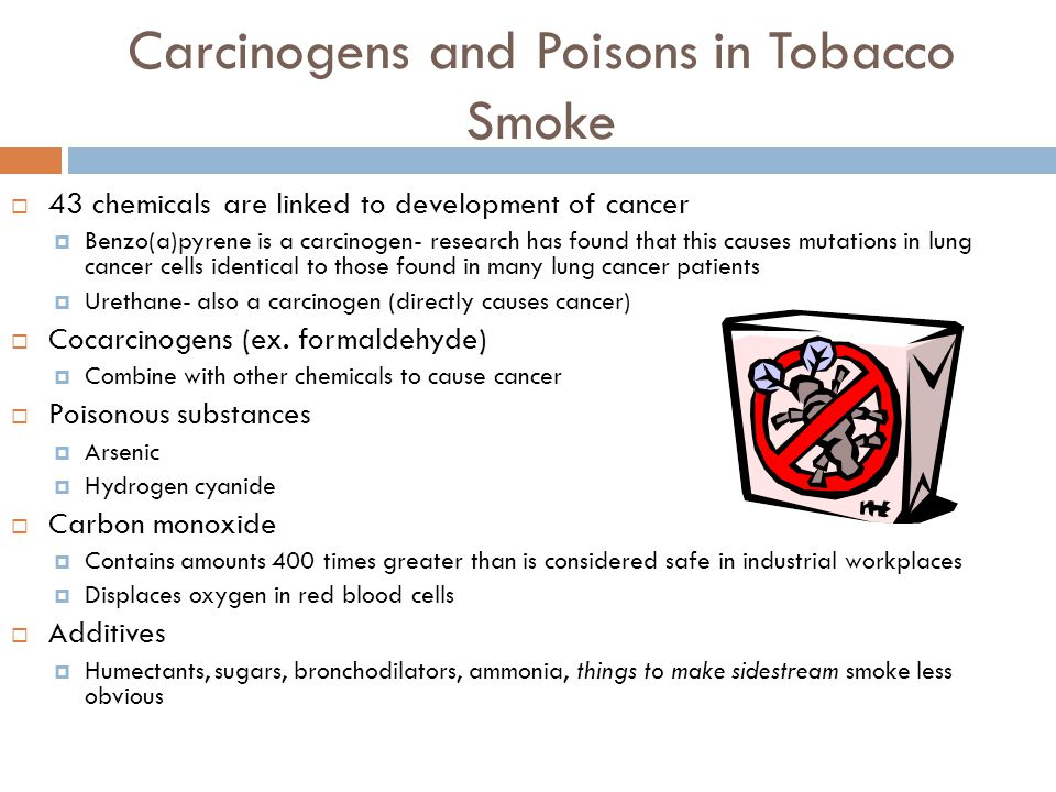 Carcinogens and Poisons in Tobacco Smoke
