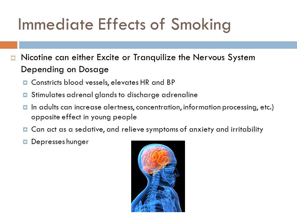 Immediate Effects of Smoking