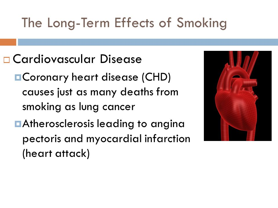 The Long-Term Effects of Smoking