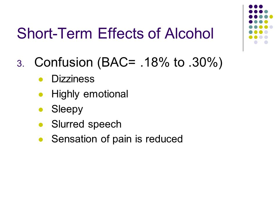 Short-Term Effects of Alcohol