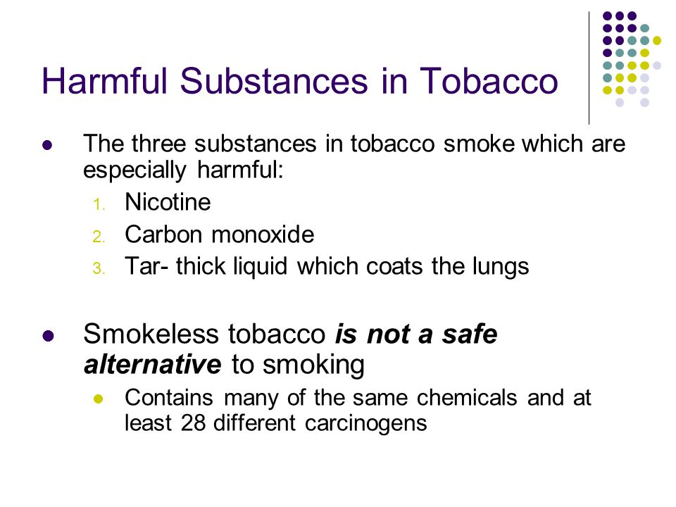 Harmful Substances in Tobacco
