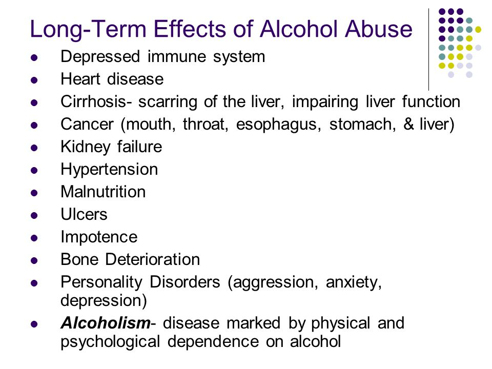 Long-Term Effects of Alcohol Abuse
