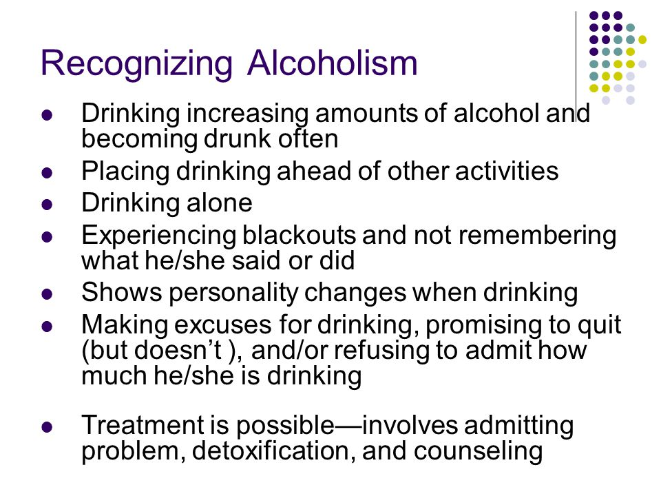 Recognizing Alcoholism