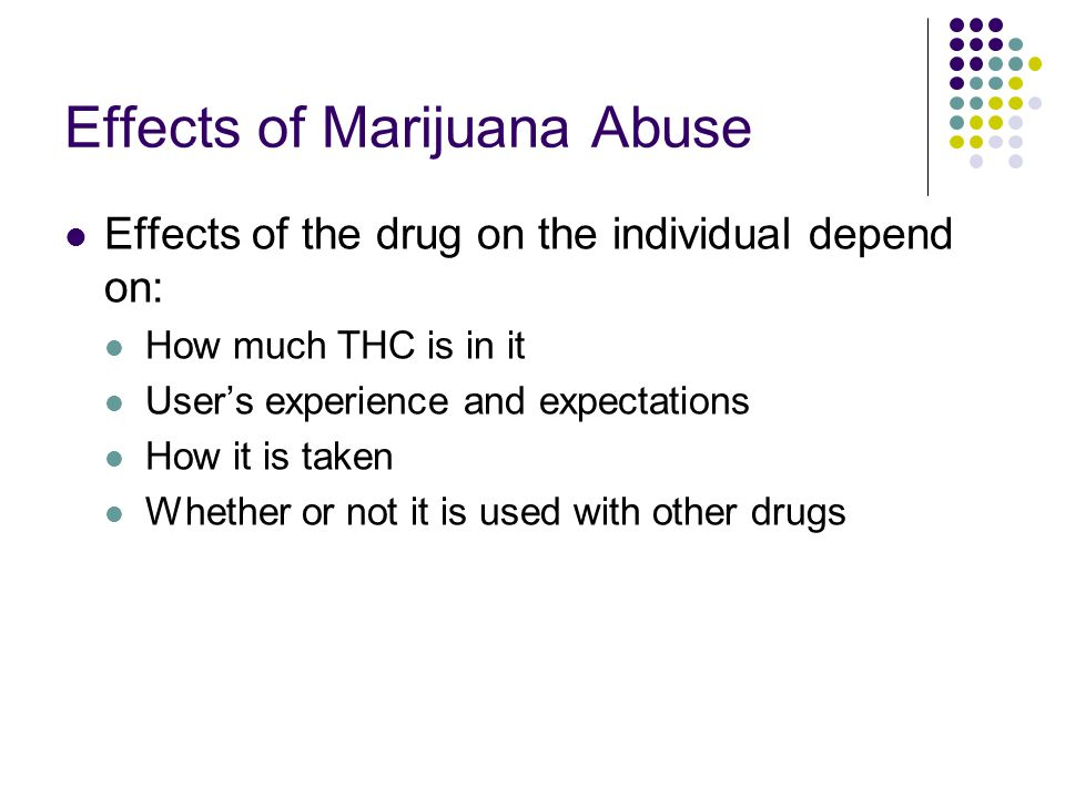 Effects of Marijuana Abuse