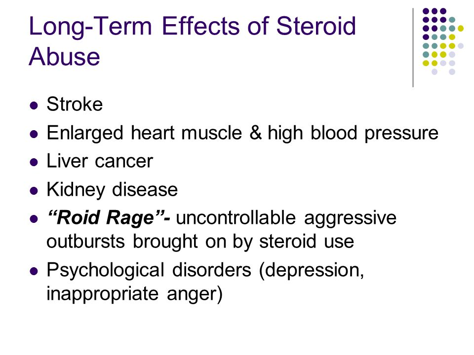 Long-Term Effects of Steroid Abuse